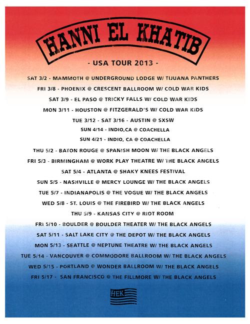 Hanni El Khatib_tour dates